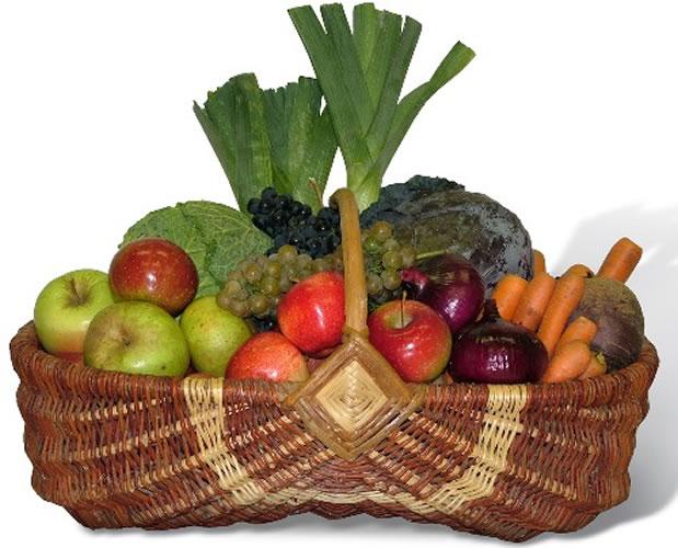 Cestino di ortaggi cucina semplicemente for Decorazioni con verdure e ortaggi