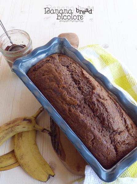Banana Bread Bicolore - Cucina Semplicemente - Fotografia di www.diversamentelatte.it