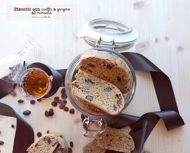 Biscotti con uvetta e zenzero al marsala - Cucina Semplicemente - Origine foto: www.diversamentelatte.it